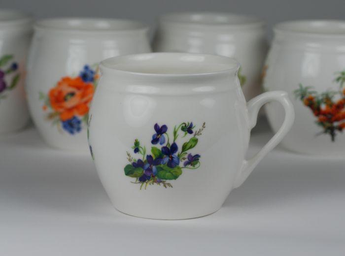 Kubek świętokrzyski fiołki (mały) - Porcelana Ćmielów