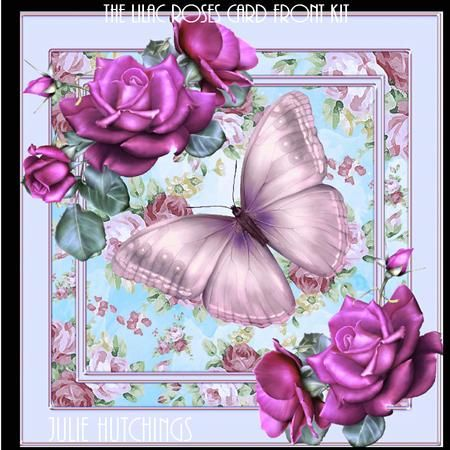 Beautiful Lilac Roses Card Front Kit on Craftsuprint designed by Julie Hutchings - Beautiful card front kit with 3 sheets to print cut and assemble to make a gorgeous card that includes card front, insert, decoupage and gift tags,topper and sentiment tag choicesSentiment TagsHappy BirthdayCongratulationsWith LoveFriendTo Someone SpecialMum With Loveblank for your own sentiment - Now available for download!