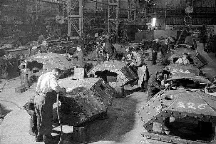 British Tank Factory Ww2 Uk Cruiser Tank All Marks