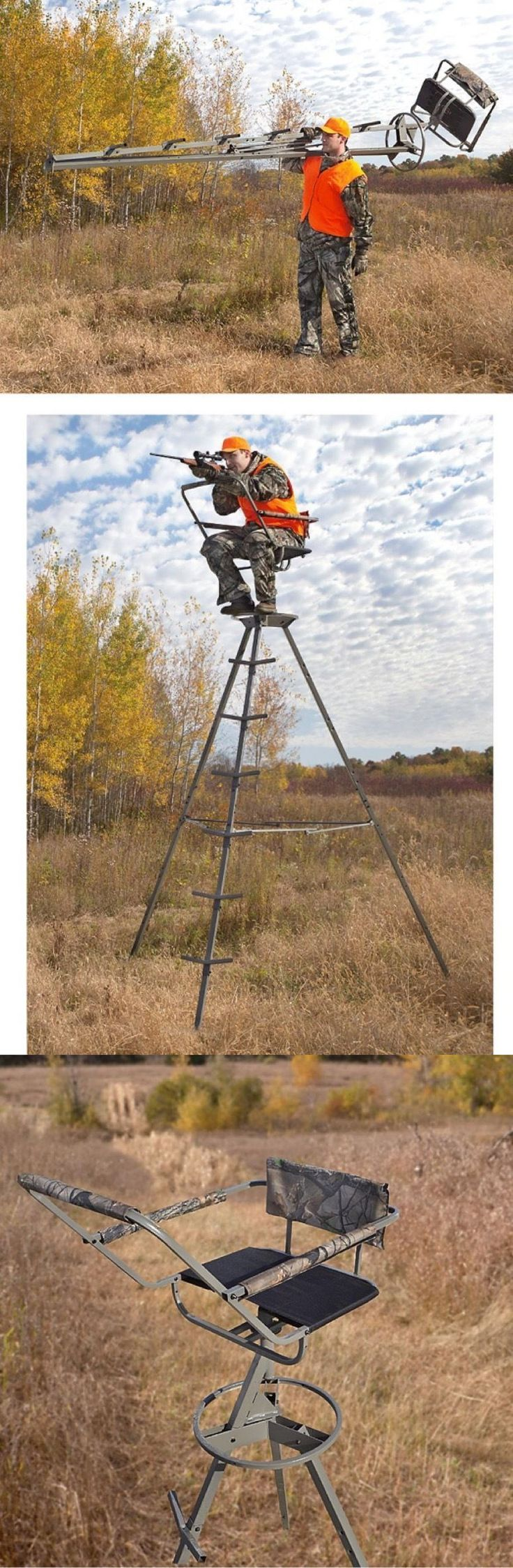 Tree Stands 52508: Tripod Deer Stands Hunting Tripod Stand No Tree Needed BUY IT NOW ONLY: $159.99