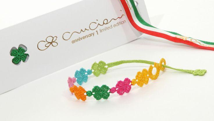 Anniversary 1 Multicolour Four-Leaf Clover Bracelet