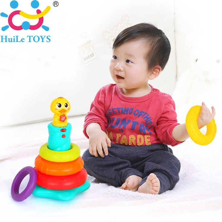 New Kids Rainbow Stacking Duck Baby Toy with Colorful Ring Stackers with Music, Sounds and Lights Great Baby Toddler Toy Gifts