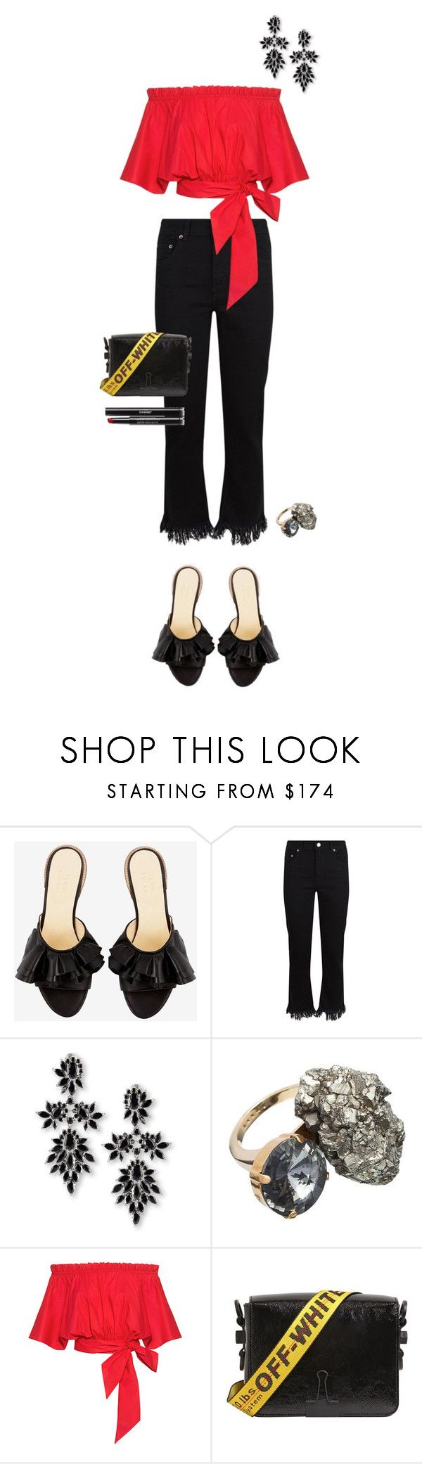 """""""Moments"""" by solespejismo ❤ liked on Polyvore featuring Maje, Fallon, Marni, Saloni, Off-White and Chanel"""