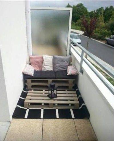 127 best d coration pour petit balcon images on pinterest. Black Bedroom Furniture Sets. Home Design Ideas