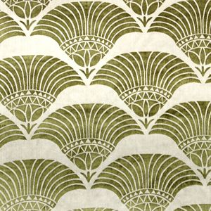 Art Deco / Art Nouveau Chenille Fabric | Cleopatra Gold from Loome Fabrics
