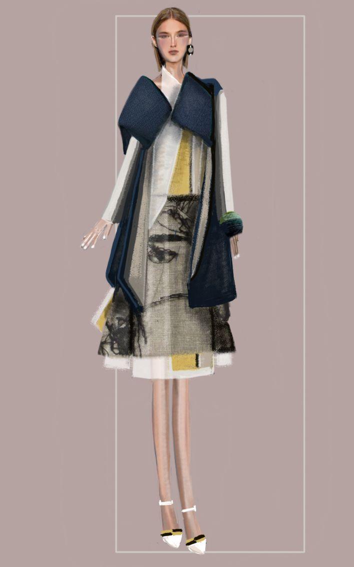"""destrutturato"" Sketch | Stefania Belmonte | my collection | Fashion Illustration"