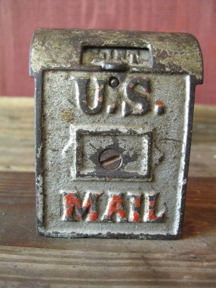 SALE Antique Bank US Mailbox Kenton Mechanical Trap Art Deco No Missing Parts FREE SHiPPING. $50.00, via Etsy.