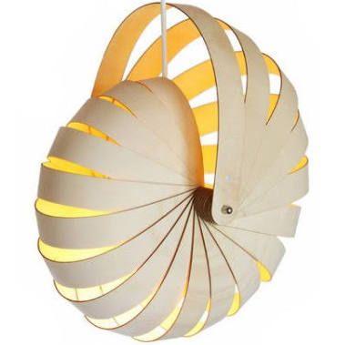 www.LuxuryModernHome.com Reproduction Nautilus Shell Lamp Wooden Modern Light