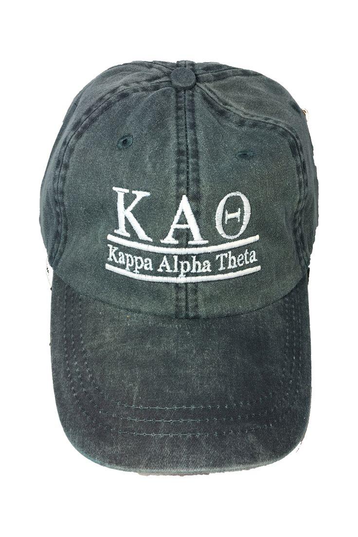 Kappa Alpha Theta Sorority Hat- Navy - Brothers and Sisters' Greek Store
