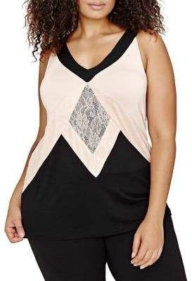 Addition Elle Michel Studio Plus A-Line Top. #plus size #womenstops #women  #ad