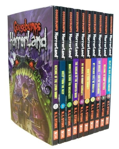 Goosebumps Horror Land Series by R L Stine  #goosebumps #book #movie  http://www.snazal.com/goosebumps-horrorland-series-10-books-box-set-collection-pac--DEALMAN-U11-Goosebumps-10Bks.html