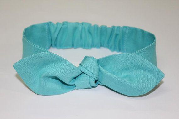 Baby headband sea green baby knot headband Penny by ElleBelleBliss $12 AUD