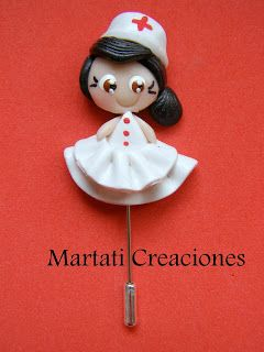 Martati creaciones FIMO: Alfileres ENFERMERAS
