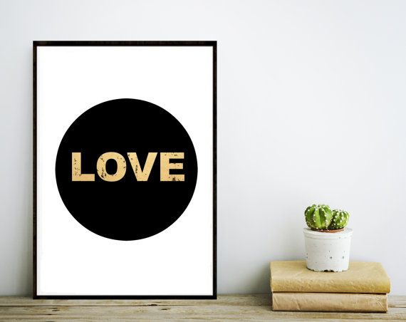 Printable Art Inspirational Print  Love by wordsmithprints on Etsy