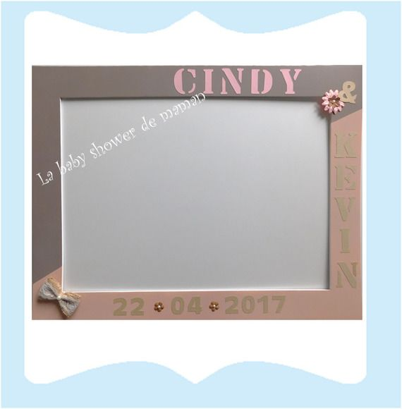 Grand Cadre photobooth pour un baptême, baby shower, mariage ou anniversaire