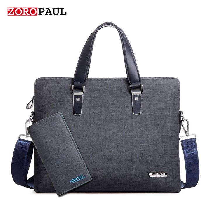 52.67$  Buy here - http://aiddu.worlditems.win/all/product.php?id=32790071278 - ZOROPAUL Men's PU leather Briefcase Fashion Handbags for Man Quality Sacoche Homme Marque Male Bag for A4 Documents Male Tote