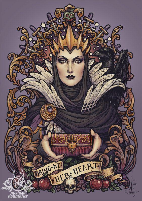Boze koningin Snow White DinA4 8 x 11