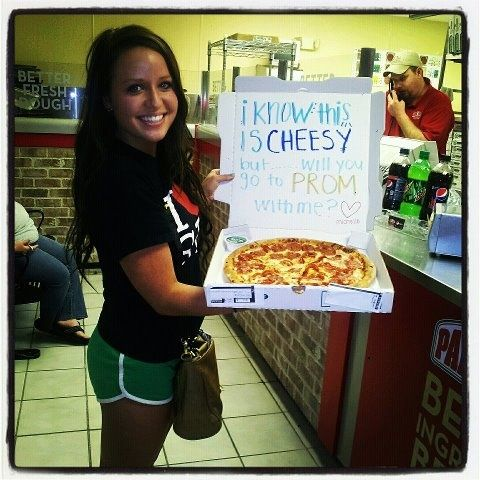 Pizza idea - modify for Sadie Hawkins, Dad, I know this is cheesy... - OLDER girls are better for this one