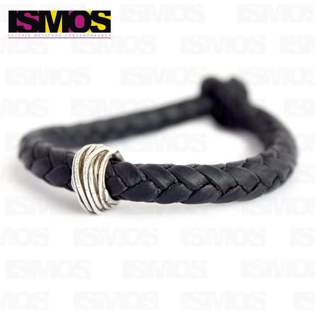 ISMOS Joyería: pulsera de piel y plata // ISMOS Jewelry: silver and leather bracelet