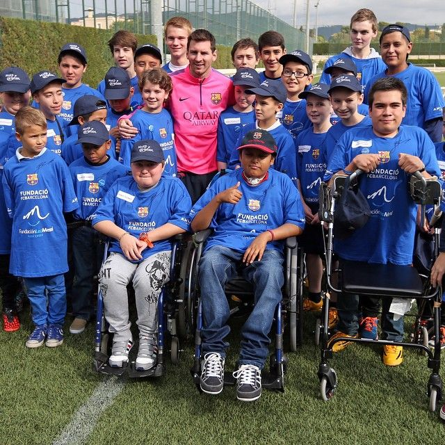 Lionel Messi spends time with 30 sick children who travelled to Barcelona to meet him