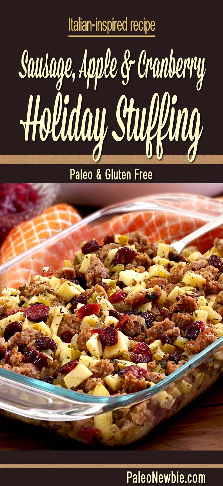 A deliciously different bread-free stuffing with sausage and Italian seasonings…my favorite stuffing recipe family-tested over many years.