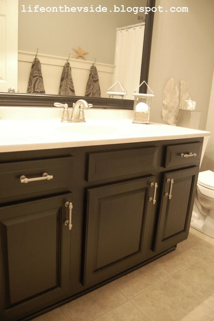 18 best images about bathroom makeover inspiration on - How to redo bathroom cabinets for cheap ...