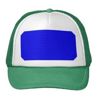 Black Polka Dots On Dark Blue Background Hats