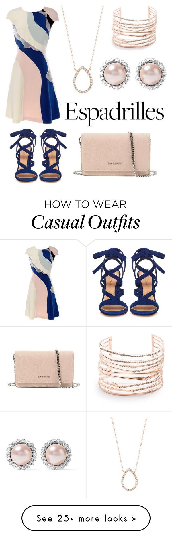 """Business casual espadrilles"" by swettypie on Polyvore featuring Dana Rebecca Designs, HUISHAN ZHANG, Gianvito Rossi, Givenchy, Miu Miu and Alexis Bittar"