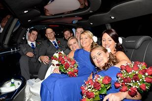 Bridal party in the HSV limousine