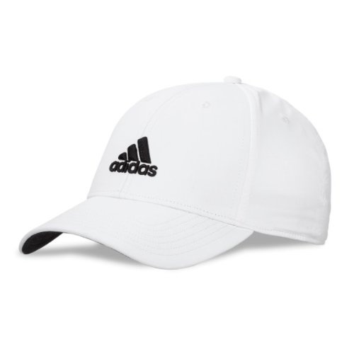 The Adidas mens core performance max side-hit is an adjustable hat with a Velcro closure. To help protect you from heat and harmful sun rays this hat is equipped with UV protection up to 50 UPF. Another great feature is the moisture wicking technology that keeps you dry and comfortable while on the golf course. 3-D Adidas performance logo on front with flat performance logo on back. Dark under bill to reduce glare. Made of 100 percent polyester.