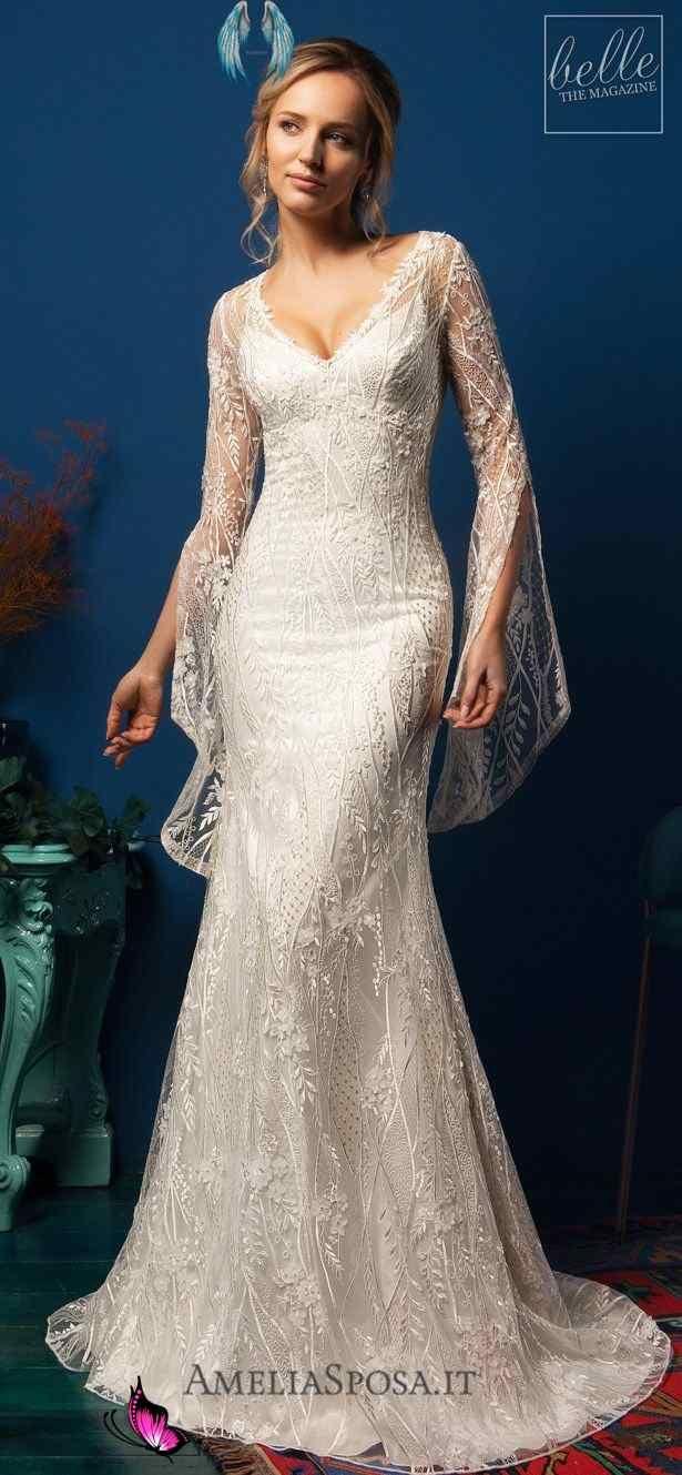 Amelia Sposa Wedding Dresses 2019 Belle The Magazine Amelia Sposa Wedding Dresses 2019 Eliana Lace Mermaid Wedding Dress With V Neckline And Long Bohemian I 2020
