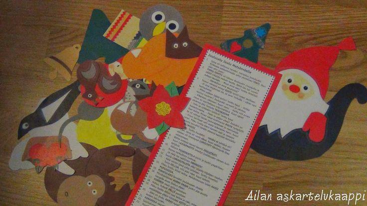 Meidän ryhmässämme oli tänä vuonna satukalenteri nimeltä: Joulusatu Joulu…