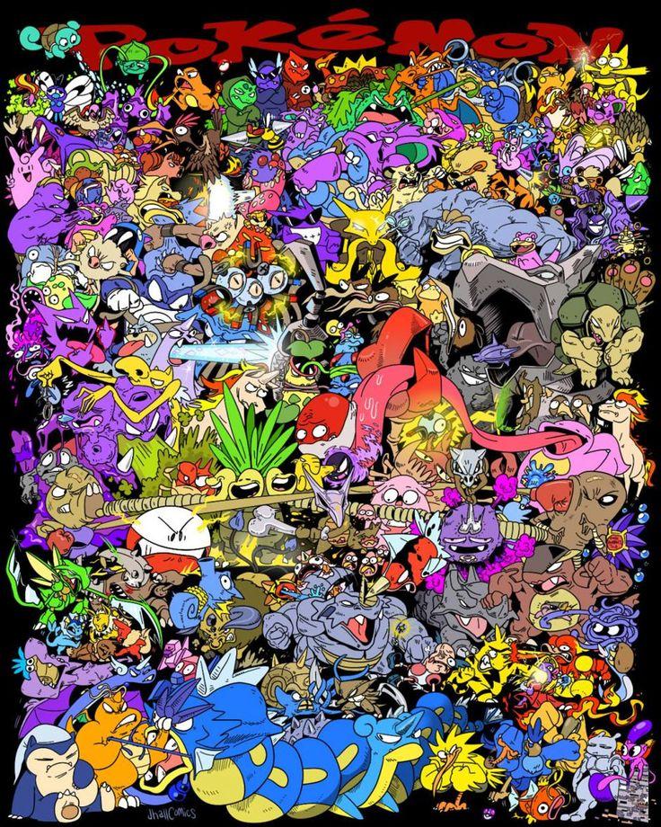 all-151-original-pokemon-battling-in-poster-art