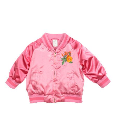 H&M baby girl Bomber jacket - hot pink | Little Style | Pinterest ...