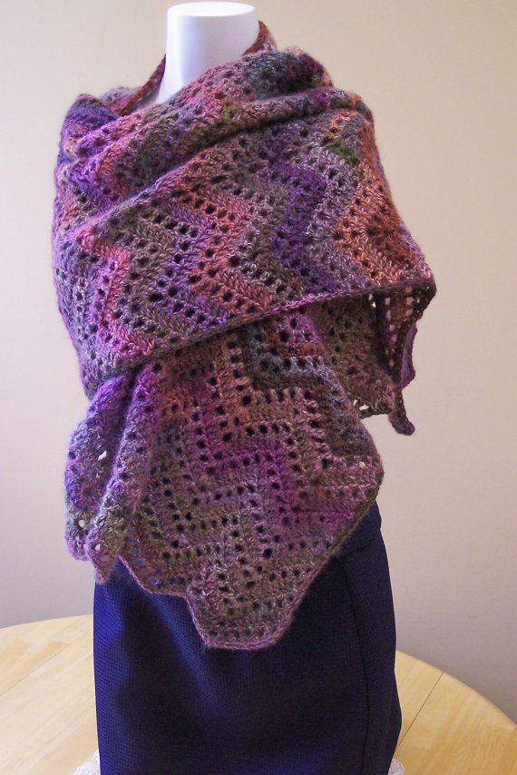 Crochet Prayer Shawl by hendersonmemories on Etsy, $95.00