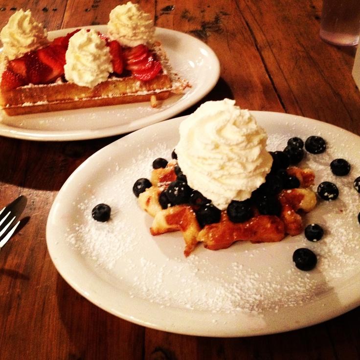 Blueberry Liege & Strawberry Belgium waffles @ Nero Waffle Bar