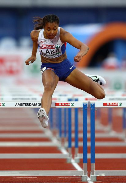 Morgan Lake of Great Briatin in action during the womens heptahlon on day three of The 23rd European Athletics Championships at Olympic Stadium on July 8, 2016 in Amsterdam, Netherlands.