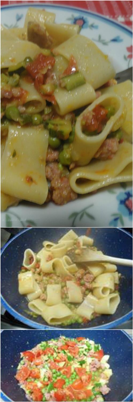 Calamarata alle verdure, ricetta appetitosa! #calamarata #verdure #pasta #ricettagustose