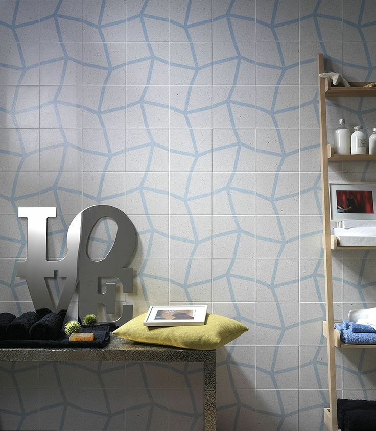 Lovely patterned terrazzo wall. Looks great in bathrooms. Range coming to Signorino Tile Gallery in early 2014.