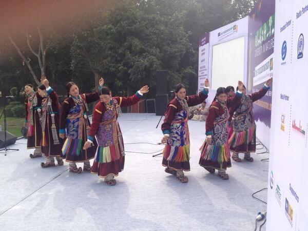 #Environment & #Wildlife Film Festival @Cms Vatavaran buzzed with #folk dance & #music from Ladakh on 1st Feb 2014 - a Pragya initiative for preservation of ethnic cultures http://www.pragya.org/preservation-of-culture.php