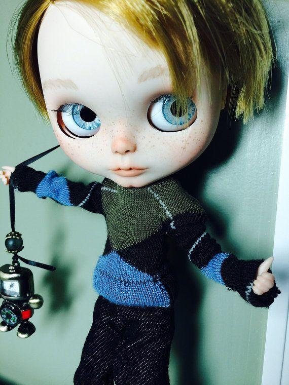Custom Boy Blythe Doll OOAK named Sundance  by by EmmyBlythe