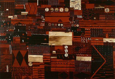 Shane Cotton   Ngapuhi, Ngati Rangi, Ngati Hine The Plant 1995