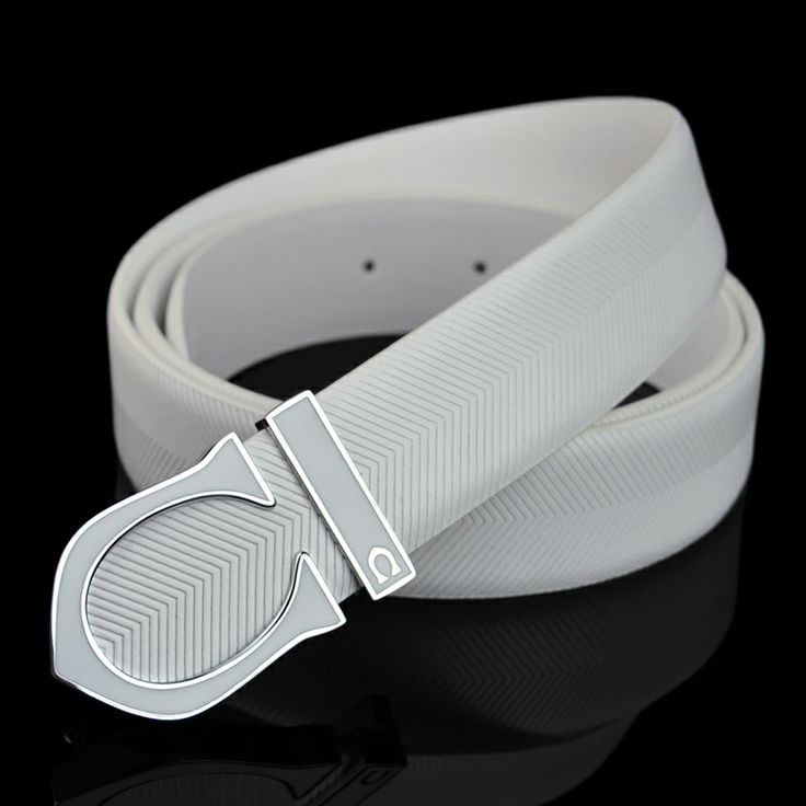 Aliexpress.com : Buy Free Shipping Smooth Plain Buckle Men's White Genuine Cowhide Leather Belts Strap For Jeans  from Reliable belted swimw...