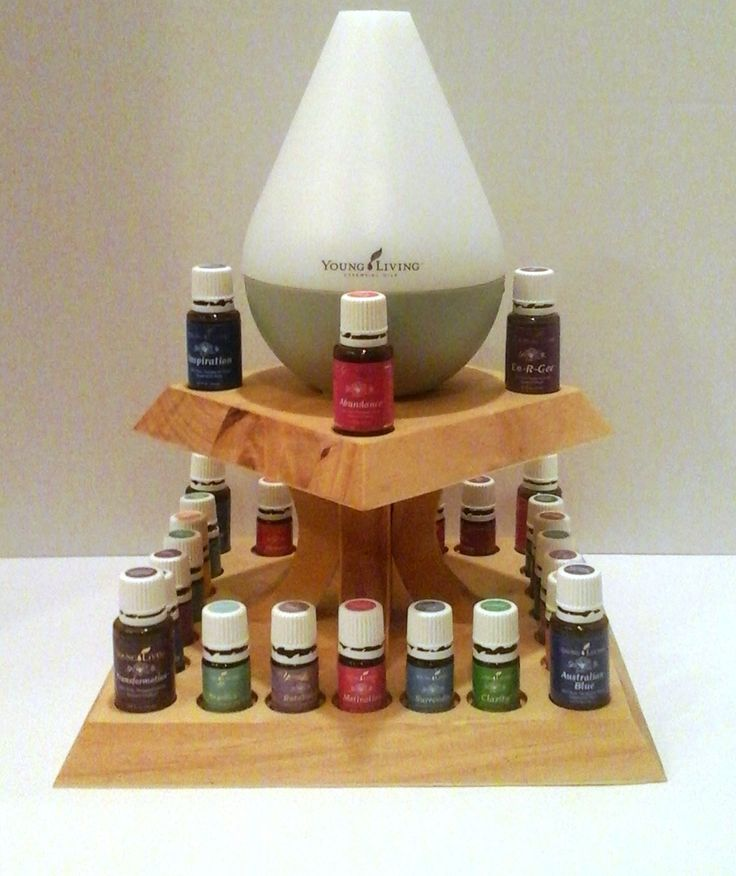 Tiered Essential Oil Holder (Oils Not Included) - Great Space Saver and a TRUE…
