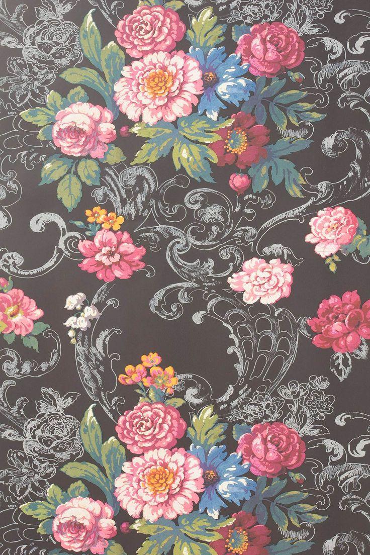 venetian bouquet wallpaper by york wallcoverings anthropologie flowers pinterest. Black Bedroom Furniture Sets. Home Design Ideas