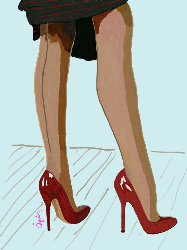 #draw #drawing #shoes #highheels #red #stiletto #liner #tan #pantyhose #samsungsnote