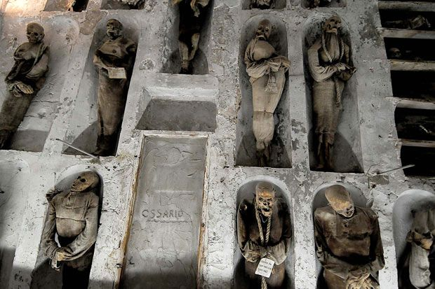 Mummies in Capuchin Catacombs, Palermo, Sicily  #JetsetterCatacombs  lorie has been to palermo, silcily