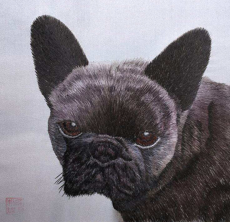Black Pug Puppy #Beautiful #Handmade #Silk #Embroidery #Art 34221 https://www.amazon.com/gp/product/B00MZH5WZ4 Dogs are prominent in Chinese culture, they are the 11th sign in the Chinese zodiac and represent people who are honest, faithful and sincere. Symbolically, dogs also represent the respect for tradition and honor as well as the service of others. In Feng Shui, dogs are powerful protection charms. Dog images are often placed in pairs at entrances and places with valuable objects.