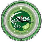14 in. Bud Light Lime Neon Wall Clock, Multi
