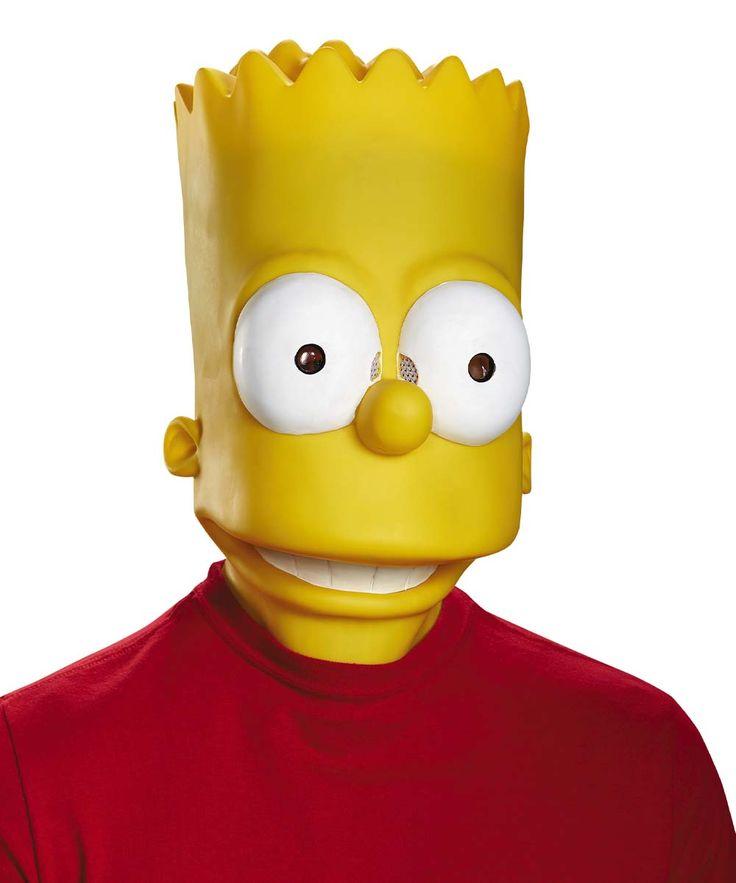 Bart Simpsons Costume Mask - Adult